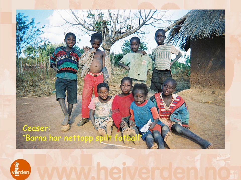 Ceaser: Barna har nettopp spilt fotball