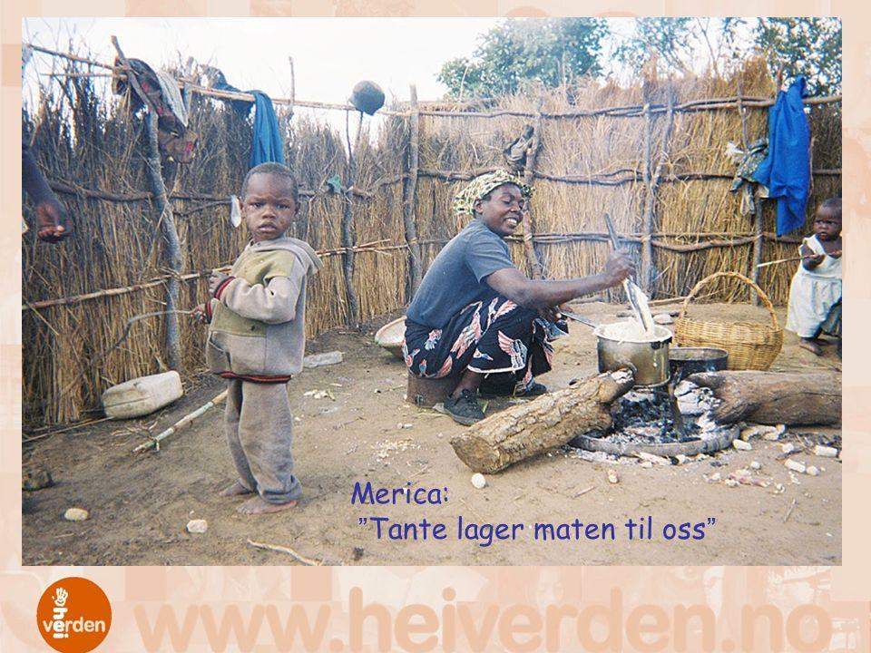 Merica: Tante lager maten til oss