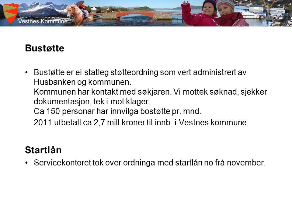 Bustøtte Bustøtte er ei statleg støtteordning som vert administrert av Husbanken og kommunen.