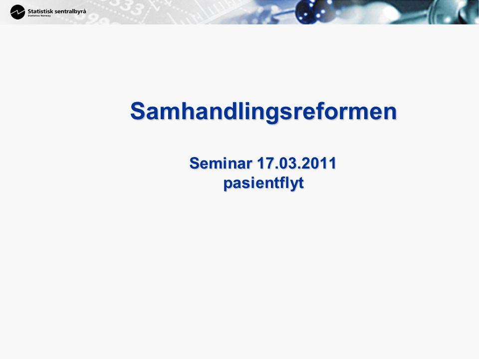 1 Samhandlingsreformen Seminar 17.03.2011 pasientflyt
