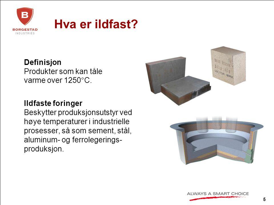 6 Hvor mye ildfaste materialer trengs for å produsere: ≈ 10 kg ≈ 1.1 tonn ≈ 650 tonn Airbus A340 Volvo C30 Skip 80.000 dwt
