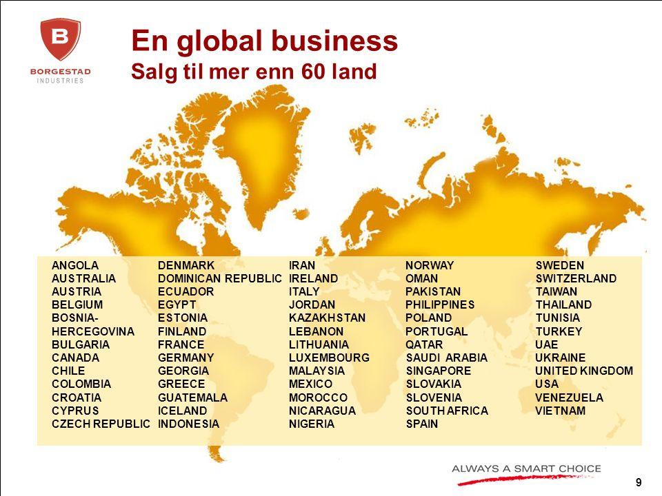 10 Selskapsstruktur Borgestad Industries ASA Höganäs Bjuf AB Borgestad Fabrikker AS GL Contracting AS (60%) J.H.