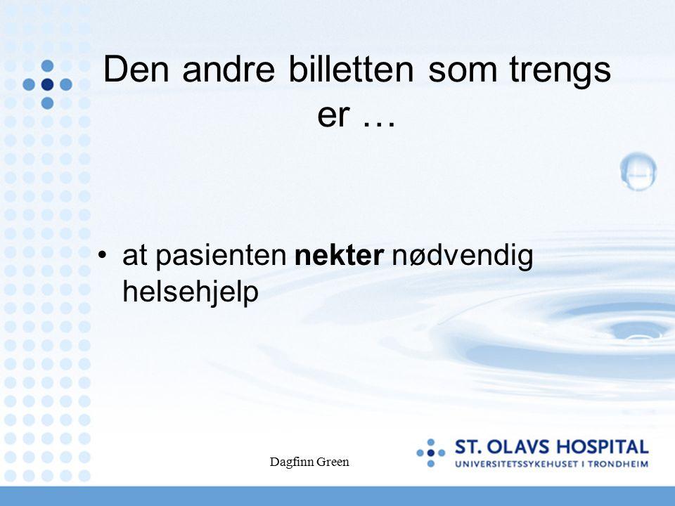 Dagfinn Green Vurdering av samtykkekompetanse.
