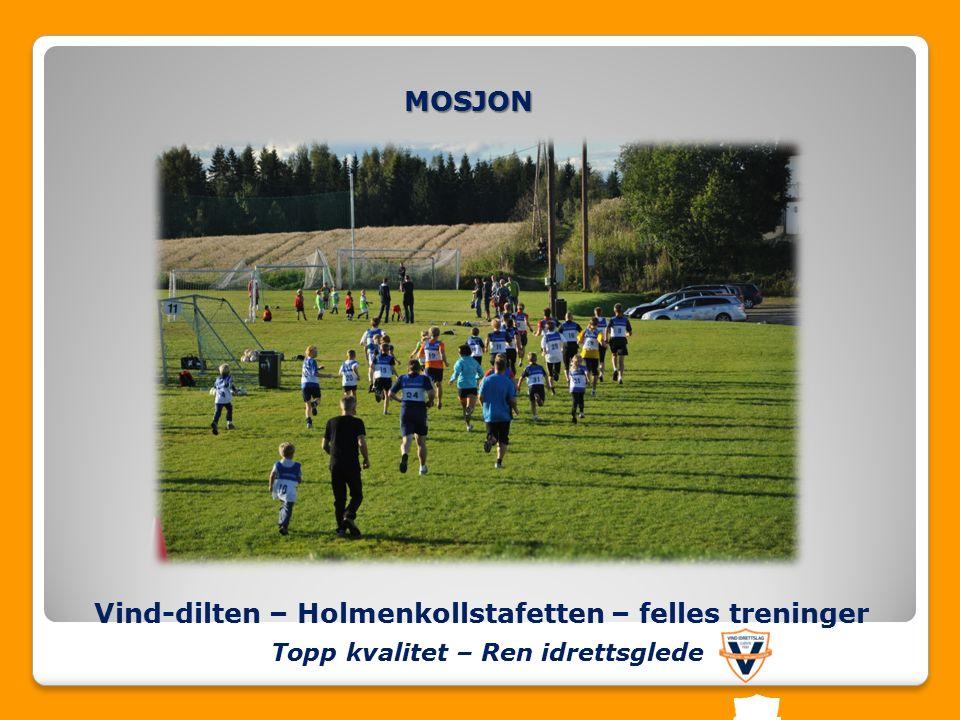Vind-dilten – Holmenkollstafetten – felles treninger MOSJON Topp kvalitet – Ren idrettsglede