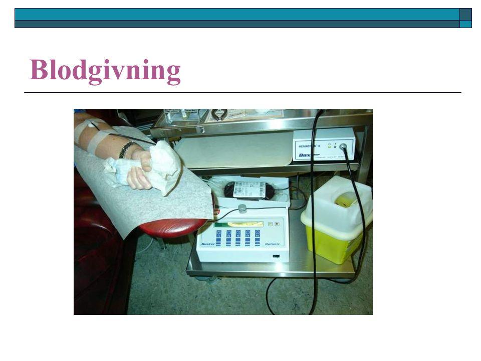 Erytrocyttkonsentrat (SAGMAN blod) SAGMAN løsning inneholder: SSaltvann AAdenin (reduserer ATP fall) GGlukose (energikilde) Mannitol (reduserer hemolyse) MANMannitol (reduserer hemolyse)