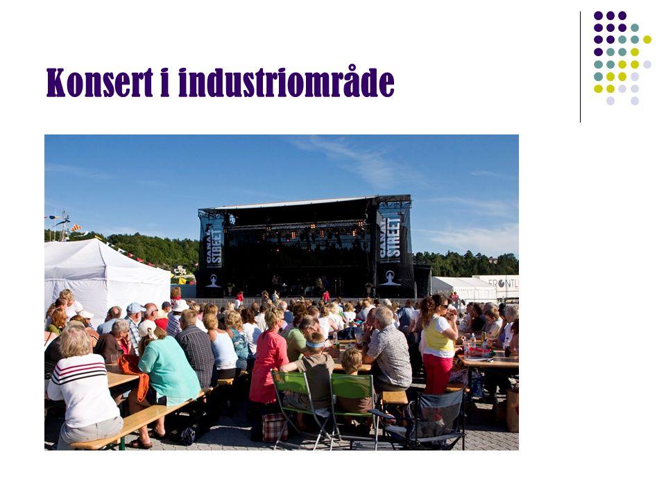 Konsert i industriområde