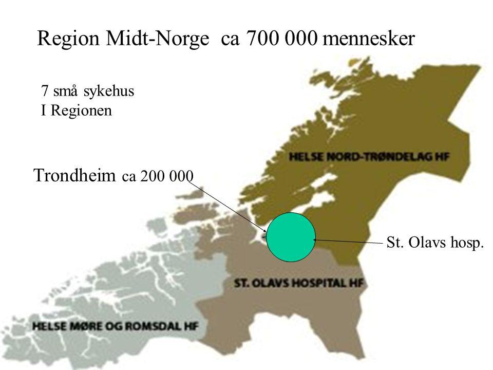 2 Region Midt-Norge ca 700 000 mennesker Trondheim ca 200 000 St.