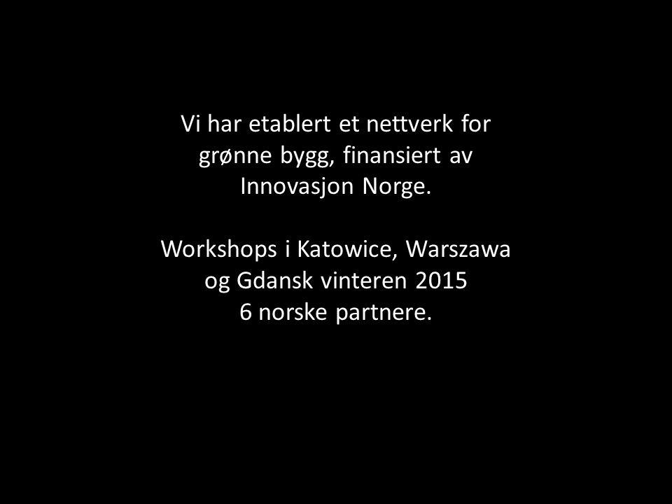 Vi har etablert et nettverk for grønne bygg, finansiert av Innovasjon Norge.