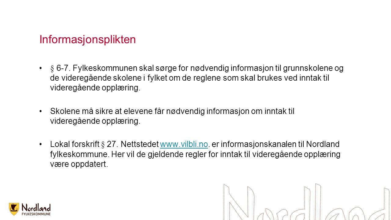 Informasjonsplikten § 6-7.