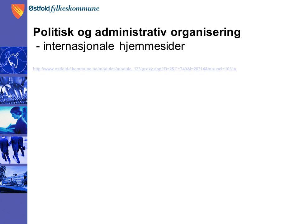 Politisk og administrativ organisering - internasjonale hjemmesider http://www.ostfold-f.kommune.no/modules/module_123/proxy.asp?D=2&C=349&I=20314&mnusel=1031a