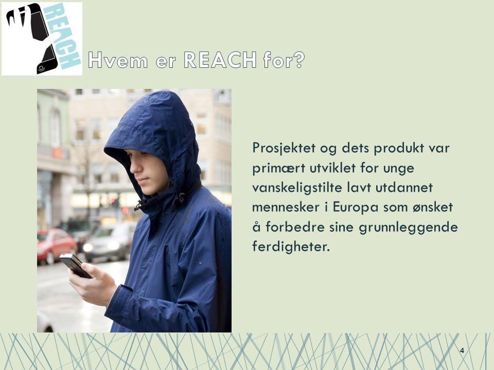Prosjektet og dets produkt var primært utviklet for unge vanskeligstilte lavt utdannet mennesker i Europa som ønsket å forbedre sine grunnleggende ferdigheter.