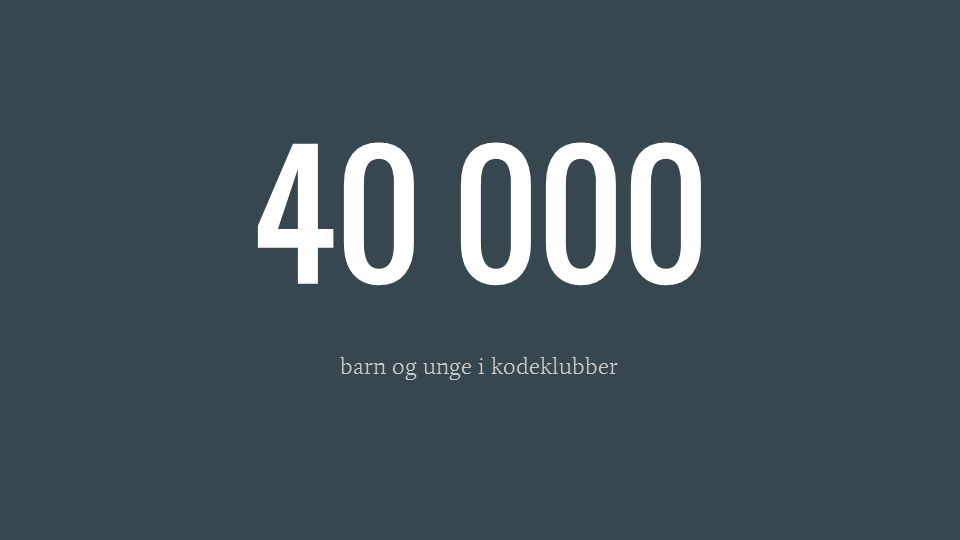 40 000 barn og unge i kodeklubber