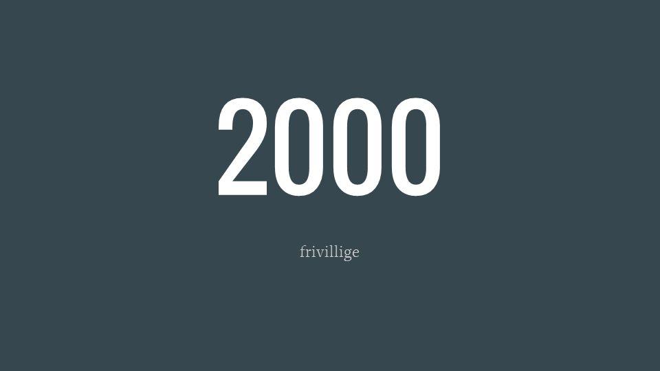 2000 frivillige