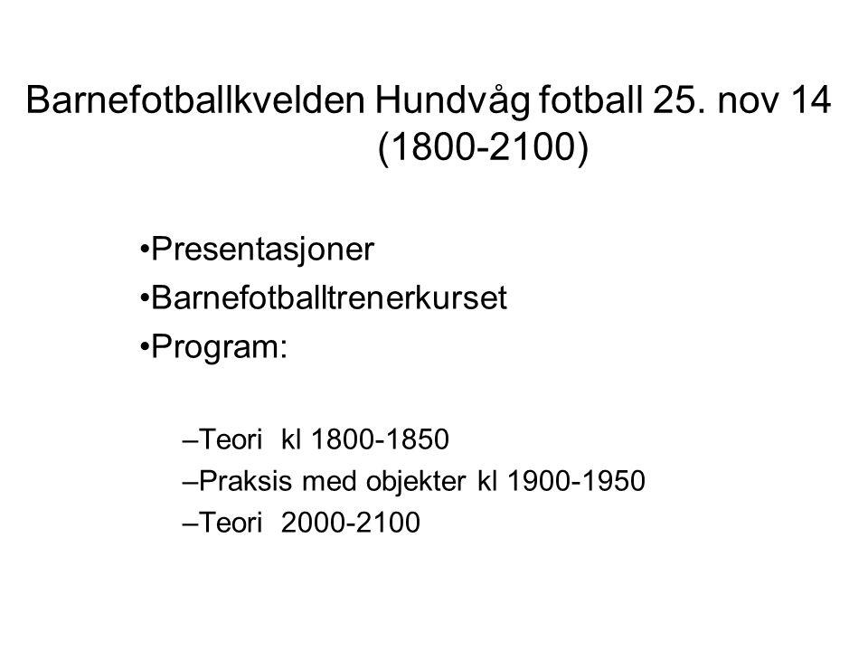 Barnefotballkvelden Hundvåg fotball 25.