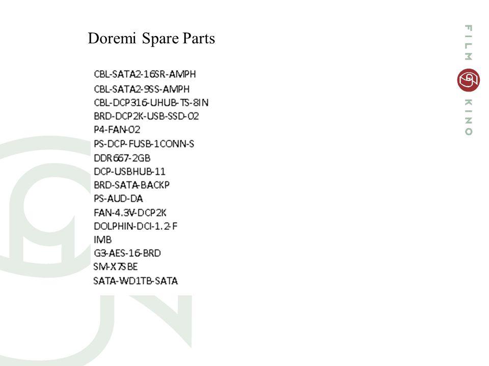 Doremi Spare Parts