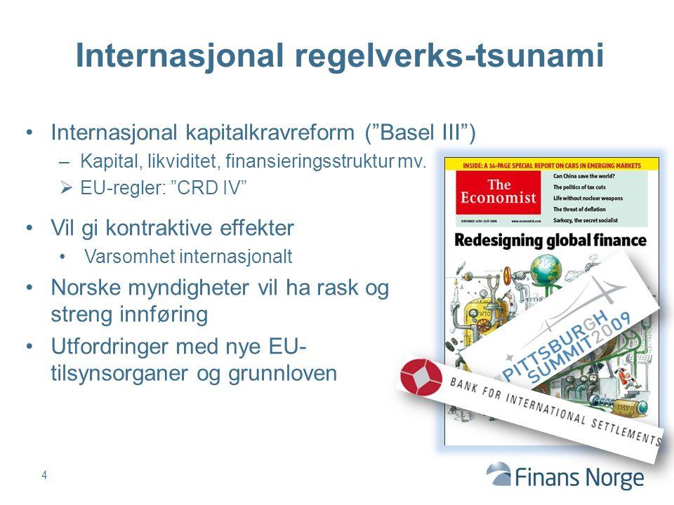 Internasjonal kapitalkravreform ( Basel III ) –Kapital, likviditet, finansieringsstruktur mv.