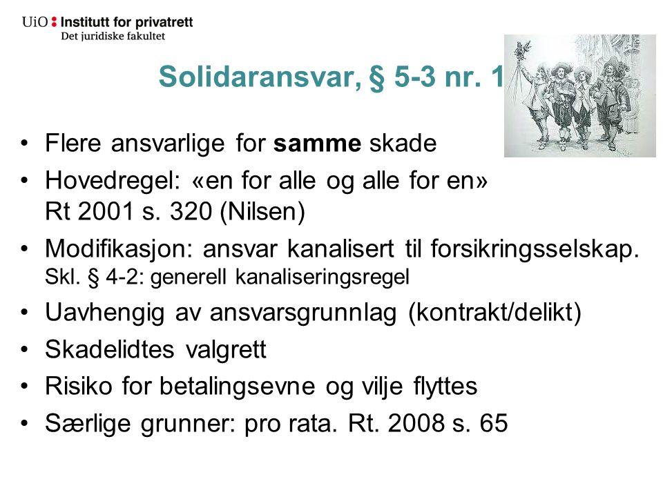 Solidaransvar, § 5-3 nr.