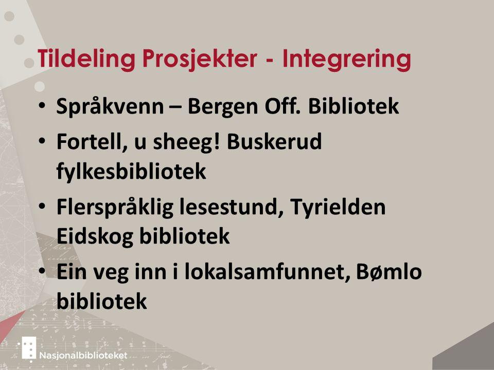 Tildeling Prosjekter - Integrering Språkvenn – Bergen Off.