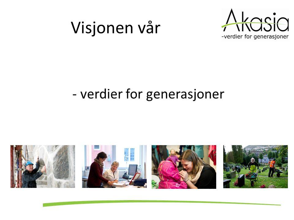 Vår h ovedstrategi Akasia ivaretar viktige samfunnsoppgaver og bringer kulturarven videre, gjennom komplette og profesjonelle fagmiljø med fokus på kvalitet og service