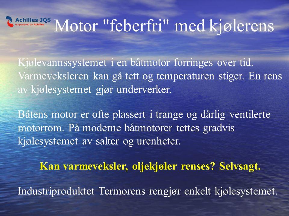 Kjølevannssystemet i en båtmotor forringes over tid.