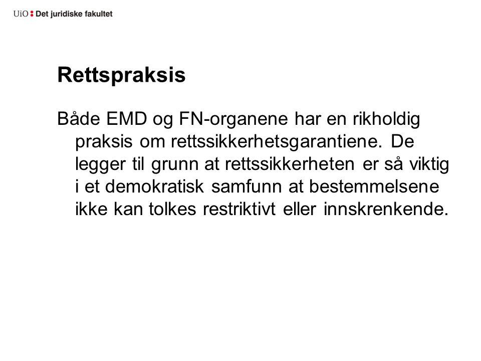 Norsk prosessrett og strafferett Begrunnelse for nektelse av å fremme anke i straffesaker (Rt.