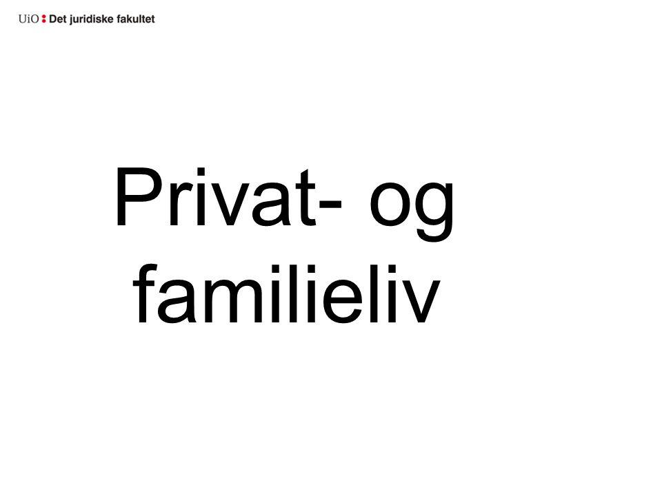 Privat- og familieliv