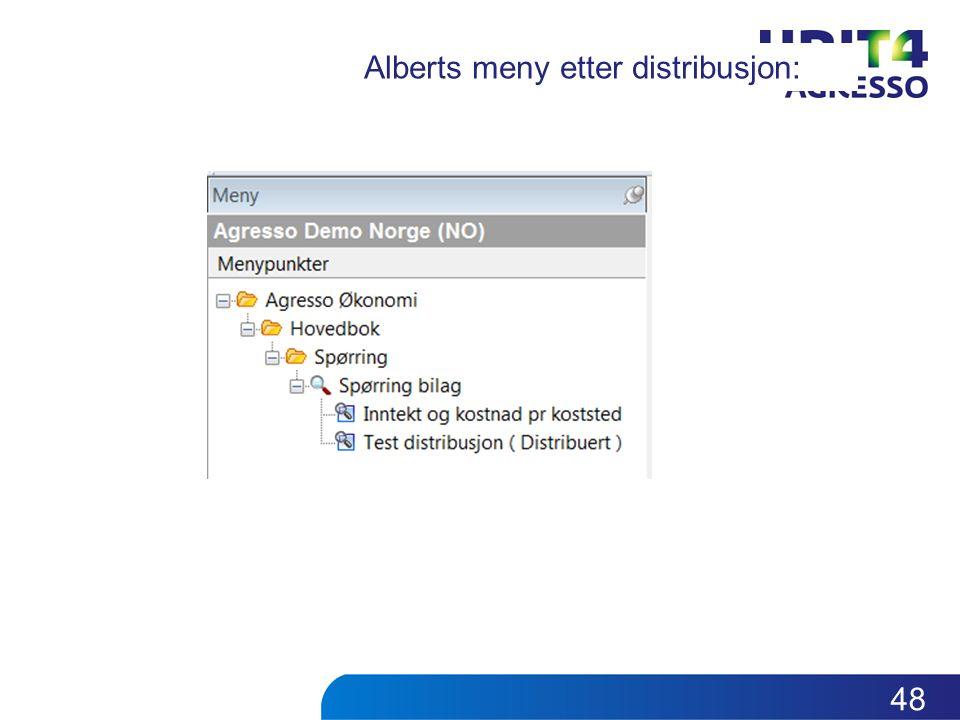 Alberts meny etter distribusjon: 48