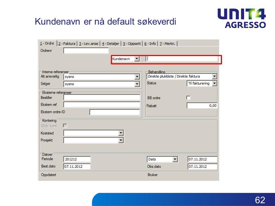Kundenavn er nå default søkeverdi 62