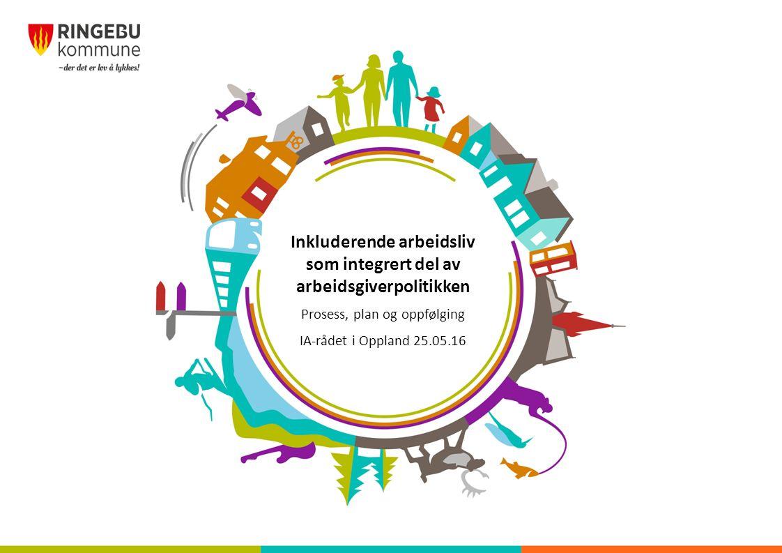 Inkluderende arbeidsliv som integrert del av arbeidsgiverpolitikken Prosess, plan og oppfølging IA-rådet i Oppland 25.05.16