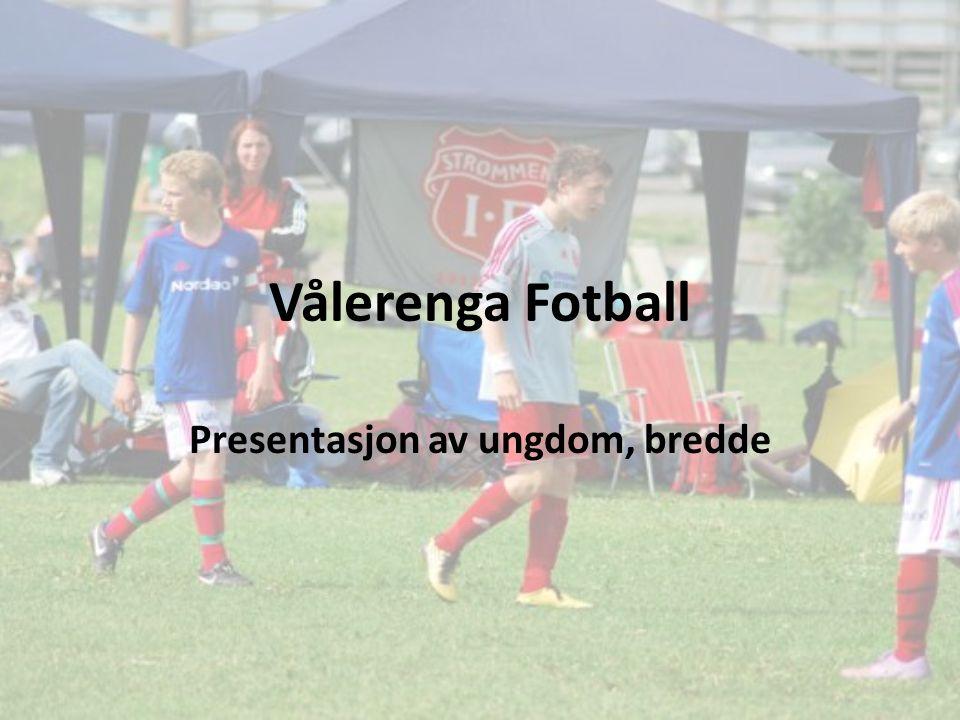Vålerenga Fotball Presentasjon av ungdom, bredde