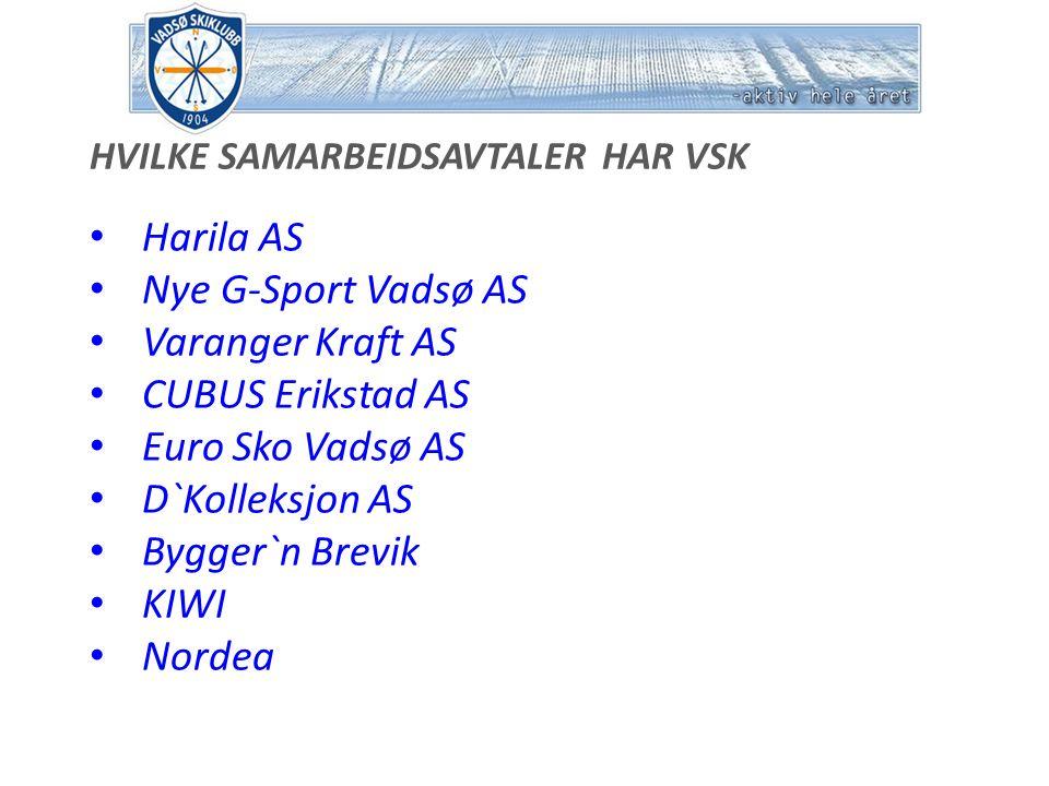 Harila AS Ytelser fra Sponsor Gjelder fram til 1.juni 2012.