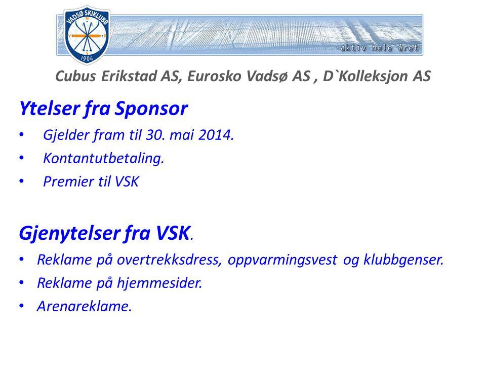Bygger`n Brevik AS Ytelser fra Sponsor Gjelder fram til 30.