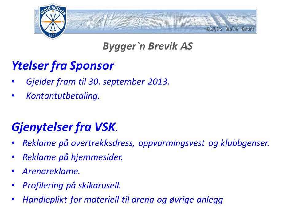 KIWI AS Ytelser fra Sponsor Gjelder fram til 31.desember 2012.