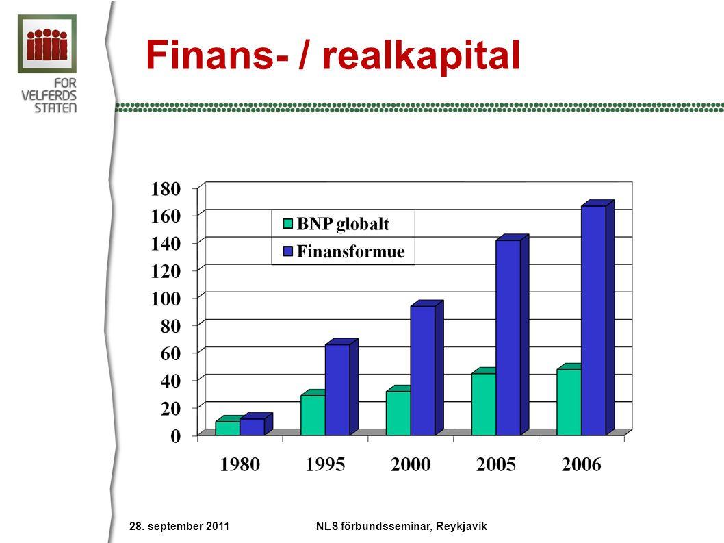 Finans- / realkapital Trillioner $ 28. september 2011 NLS förbundsseminar, Reykjavik