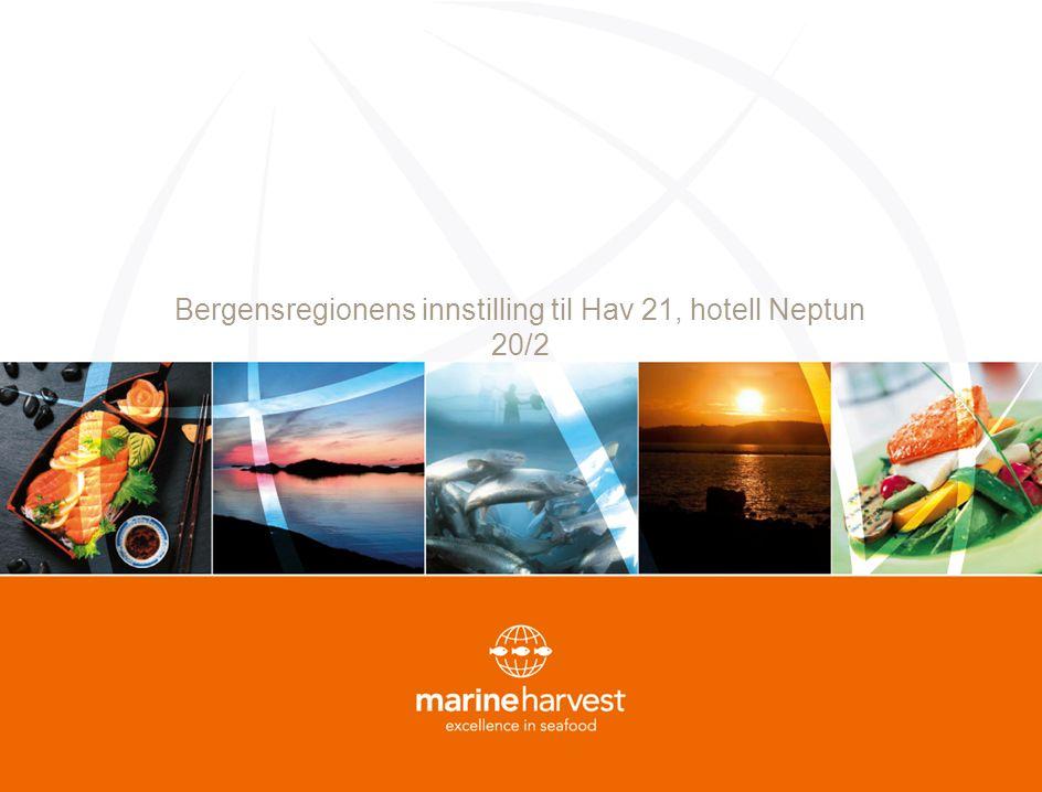 Bergensregionens innstilling til Hav 21, hotell Neptun 20/2