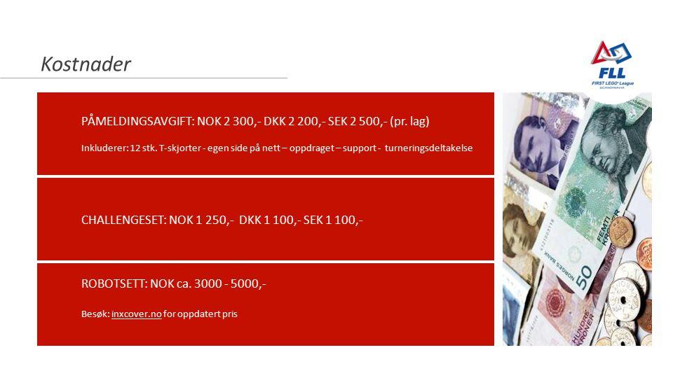 Newton-nettverket 23.10.2014 Kostnader PÅMELDINGSAVGIFT: NOK 2 300,- DKK 2 200,- SEK 2 500,- (pr. lag) Inkluderer: 12 stk. T-skjorter - egen side på n