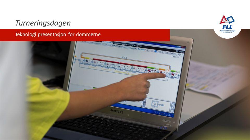 Turneringsdagen Teknologi presentasjon for dommerne