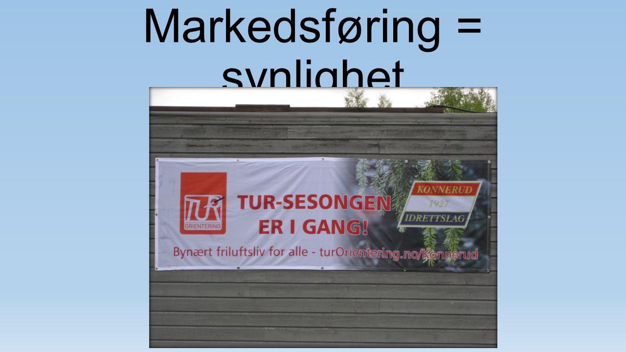 Markedsføring = synlighet