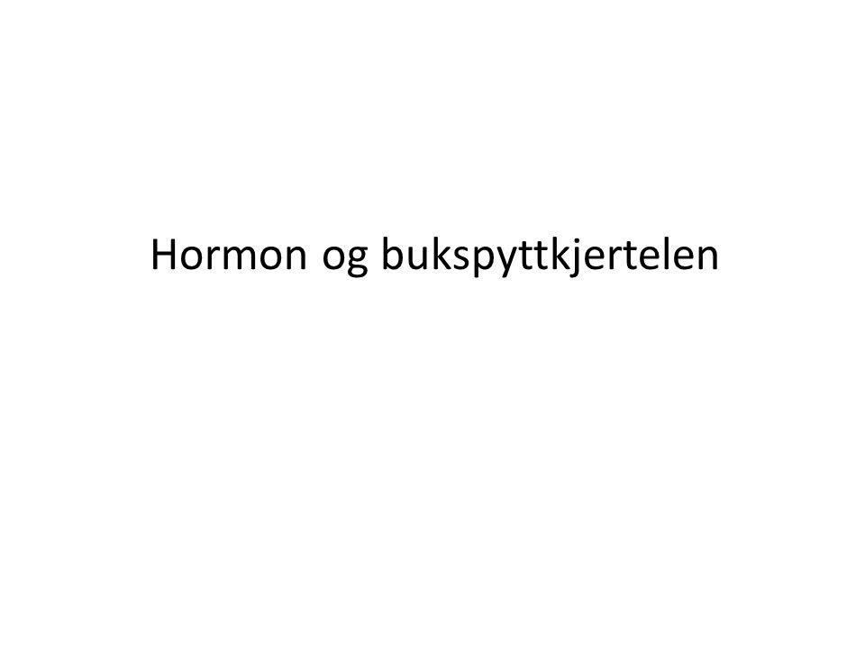 Hormon og bukspyttkjertelen