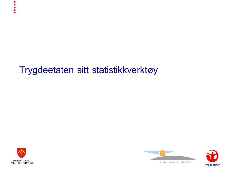 Trygdeetaten sitt statistikkverktøy