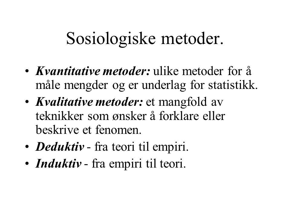 Sosiologiske metoder.