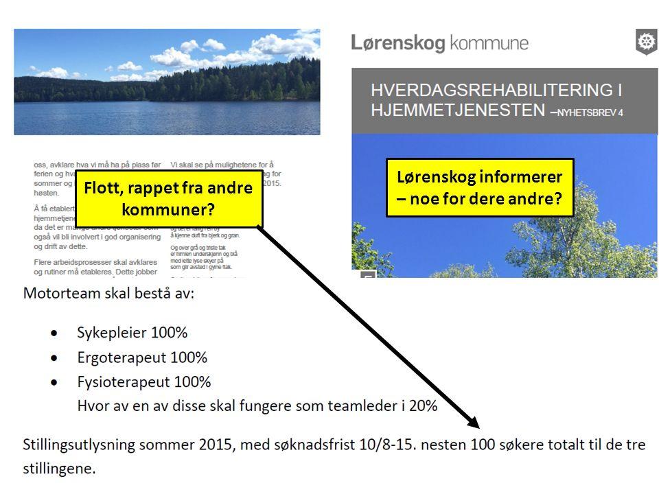 Lørenskog informerer – noe for dere andre Flott, rappet fra andre kommuner