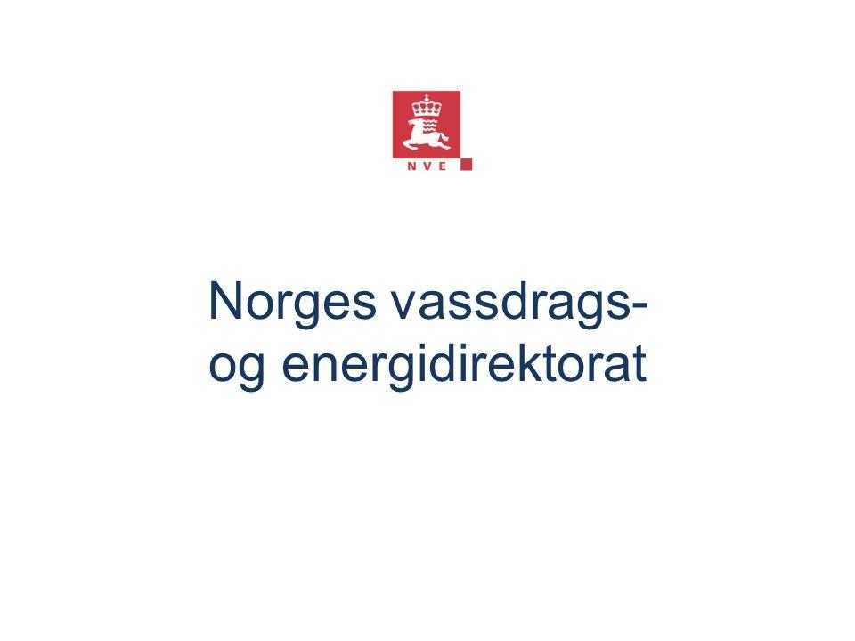 Norges vassdrags- og energidirektorat Dette er et skjult lysbilde