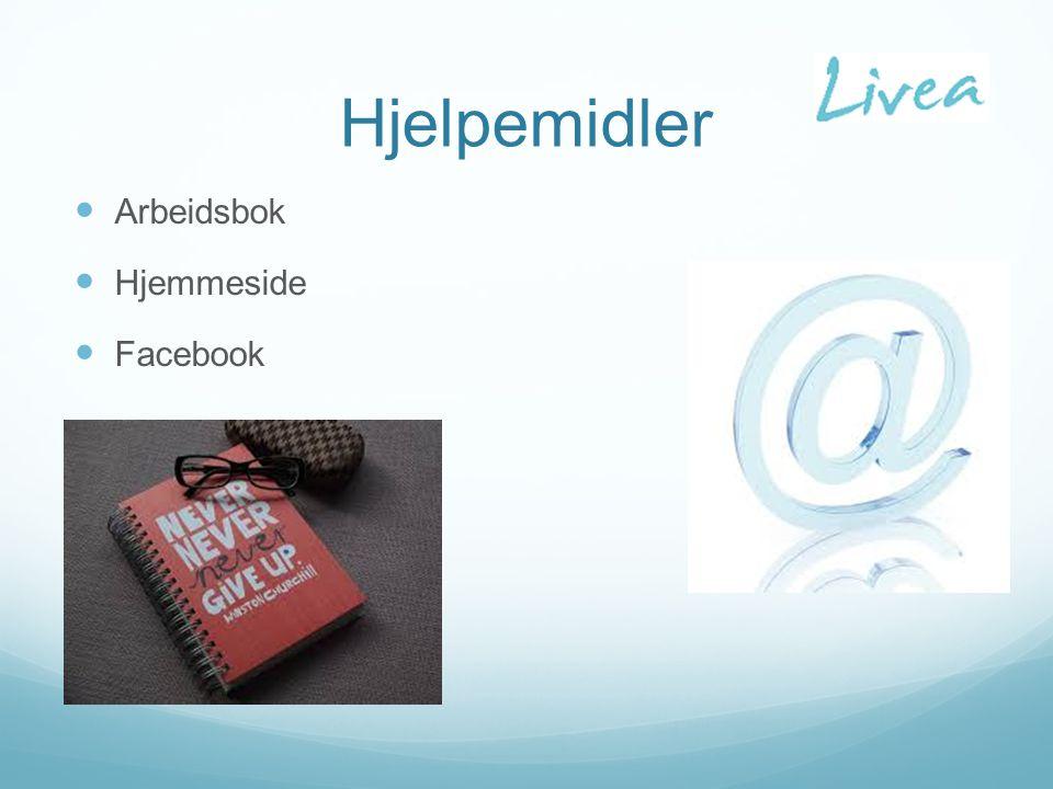 Hjelpemidler Arbeidsbok Hjemmeside Facebook