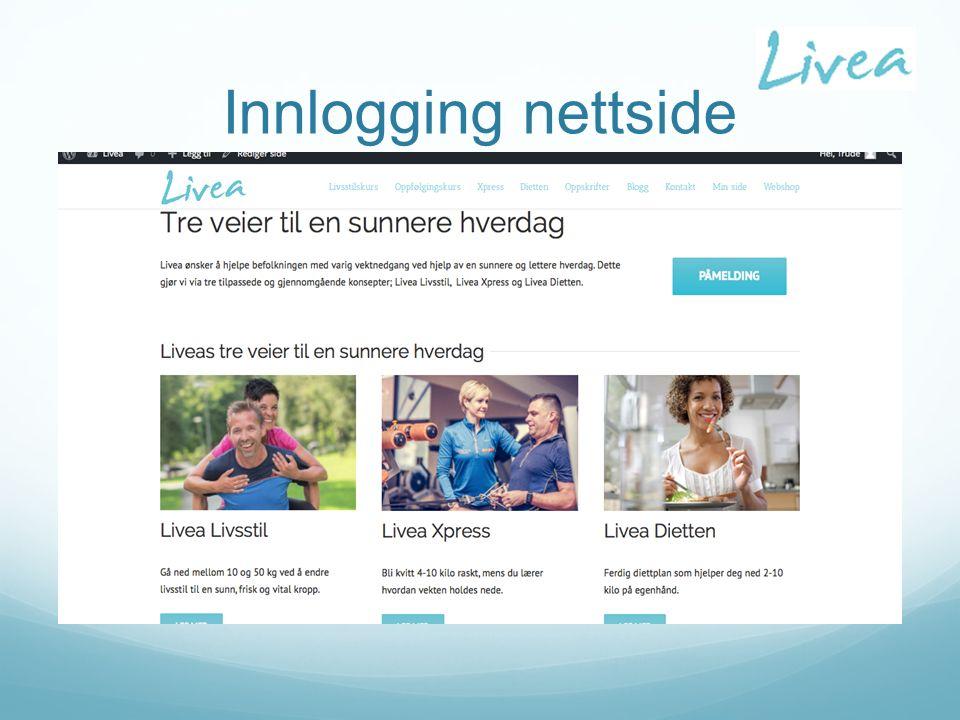 Innlogging nettside
