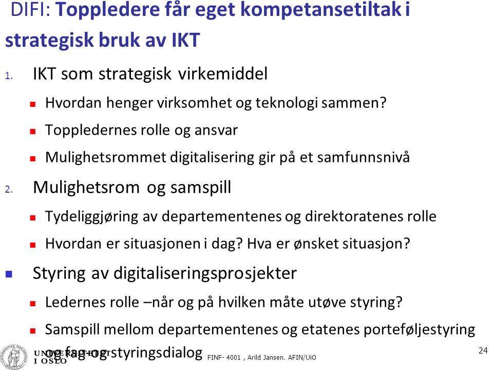 DIFI: Toppledere får eget kompetansetiltak i strategisk bruk av IKT 1.