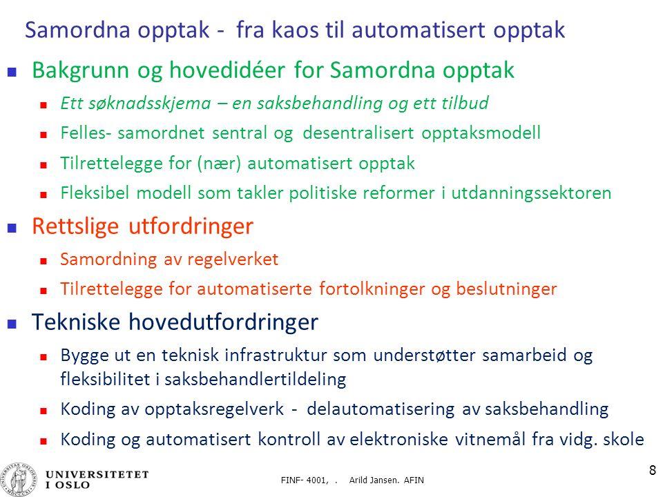 FINF- 4001,. Arild Jansen.
