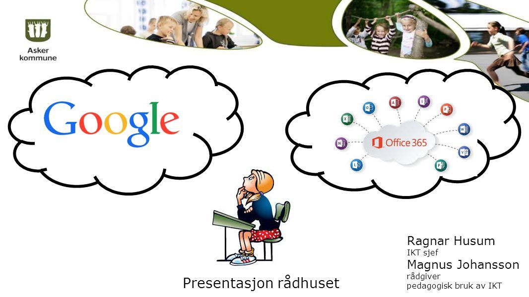 Presentasjon rådhuset Ragnar Husum IKT sjef Magnus Johansson rådgiver pedagogisk bruk av IKT