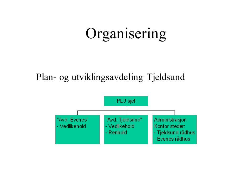 Evenes-Tjeldsund Utklipp fra vegvesen-kart Rådhus