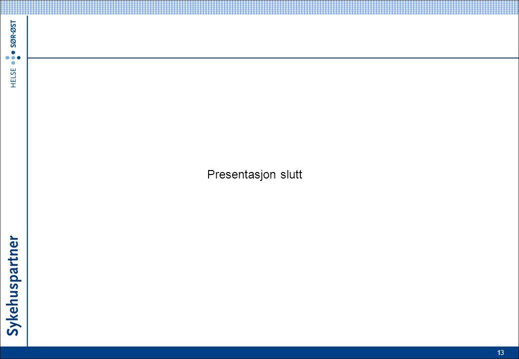 13 Presentasjon slutt